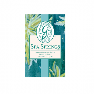 Greenleaf Small Scented Sachet - Spa Springs